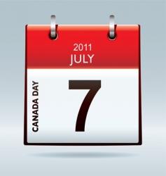 Canada day calendar icon vector image