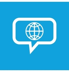 Globe message icon vector