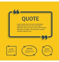 Quote line text box with commas set vector