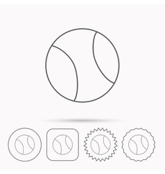 Tennis icon sport ball sign vector