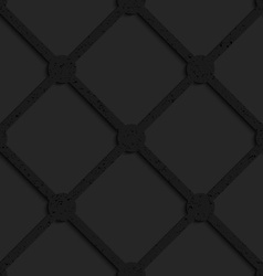 Black textured plastic grid with squares and vector