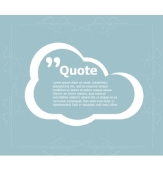 Quote blank template quote bubble empty template vector