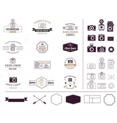 Photographer and photo studio element signatute vector