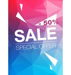 Super sale special offer banner on blue and red vector