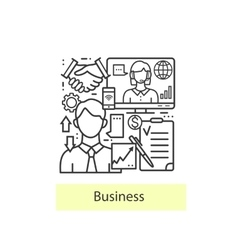 Modern thin line icons for business and management vector