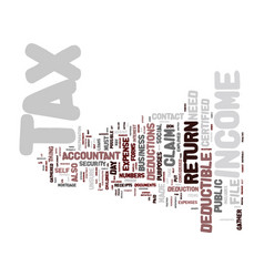 Are you ready for tax day text background word vector