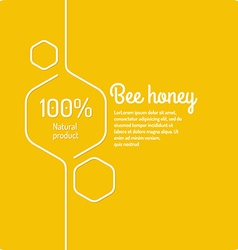 Background for bee products vector