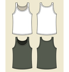 Blank singlet template vector image vector image