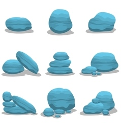 Blue rock style elements vector