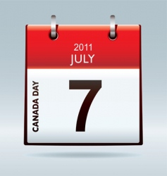 Canada day calendar icon vector image vector image