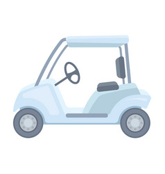 car for golfgolf club single icon in cartoon vector image vector image
