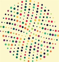 Circle dot pattern vector