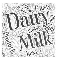 Dairy products and the ph miracle diet word cloud vector