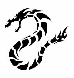 dragon tattoo vector image vector image