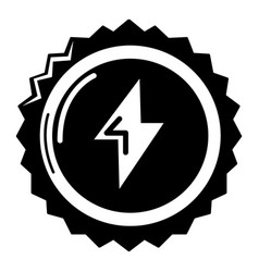 energy drink bottle cap icon simple style vector image