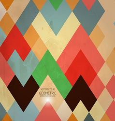 Geometric retro background vector