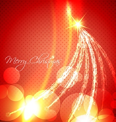 glowing christmas tree vector image vector image