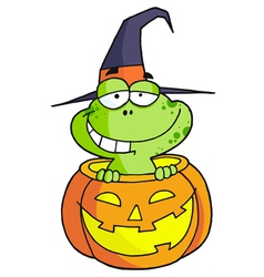 Halloween frog vector