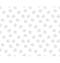 Hand drawn leaves in doodle style - seamless vector