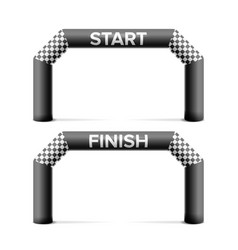 Inflatable start finish line arch place vector