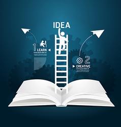 Infographic climbing ladder book diagram vector
