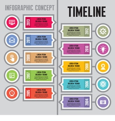 Infographic Concept - Timeline and Steps vector image vector image