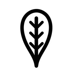 Line botany leaf to ecology care symbol vector