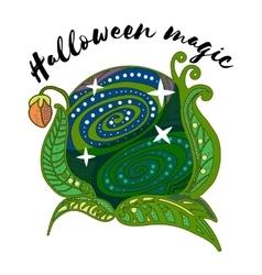 Magic plant ball vector
