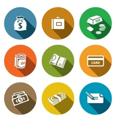 Money icon collection vector