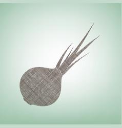 onion sign salad ingredient healthy vegetable vector image vector image