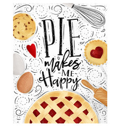poster pie vector image