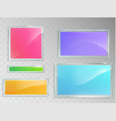 set of of glass banners vector image