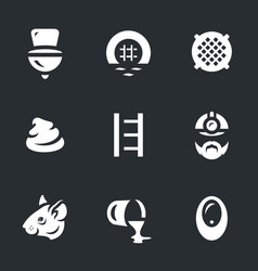 Set of sewerage icons vector