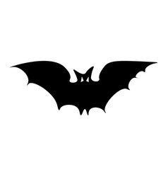 silhouette of the long-eared bat vector image