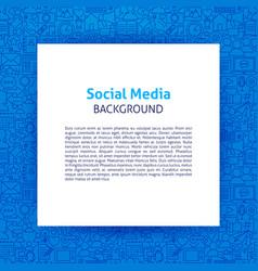 Social media paper template vector