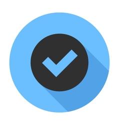 Tick Icon Flat Design icon vector image vector image