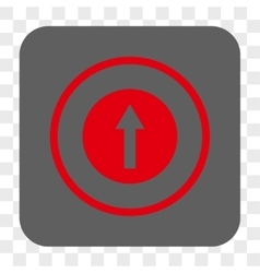 Up rounded arrow rounded square button vector