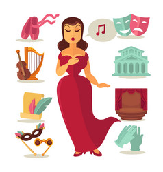 woman singing in theatre vector image