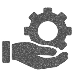 Mechanic gear service hand grainy texture icon vector