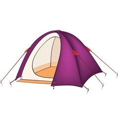 Violet tent vector image