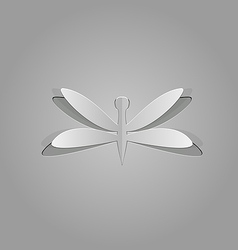 Dragonfly cut from paper vector