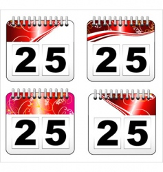 Christmas day calendar icon vector image