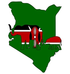Kenya elephants vector