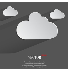 Cloud download application web icon flat design vector