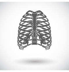 Icon of human thorax vector image