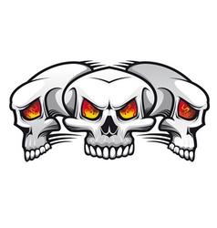 evil skulls vector image
