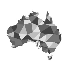 map of australia map concept polygon vector image