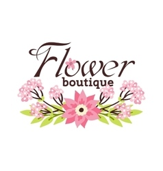 Floral boutique vector