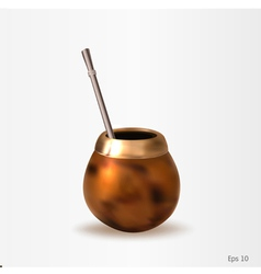 A calabash with a bombilla vector image