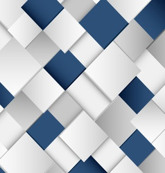 Abstract white and blue square background vector image